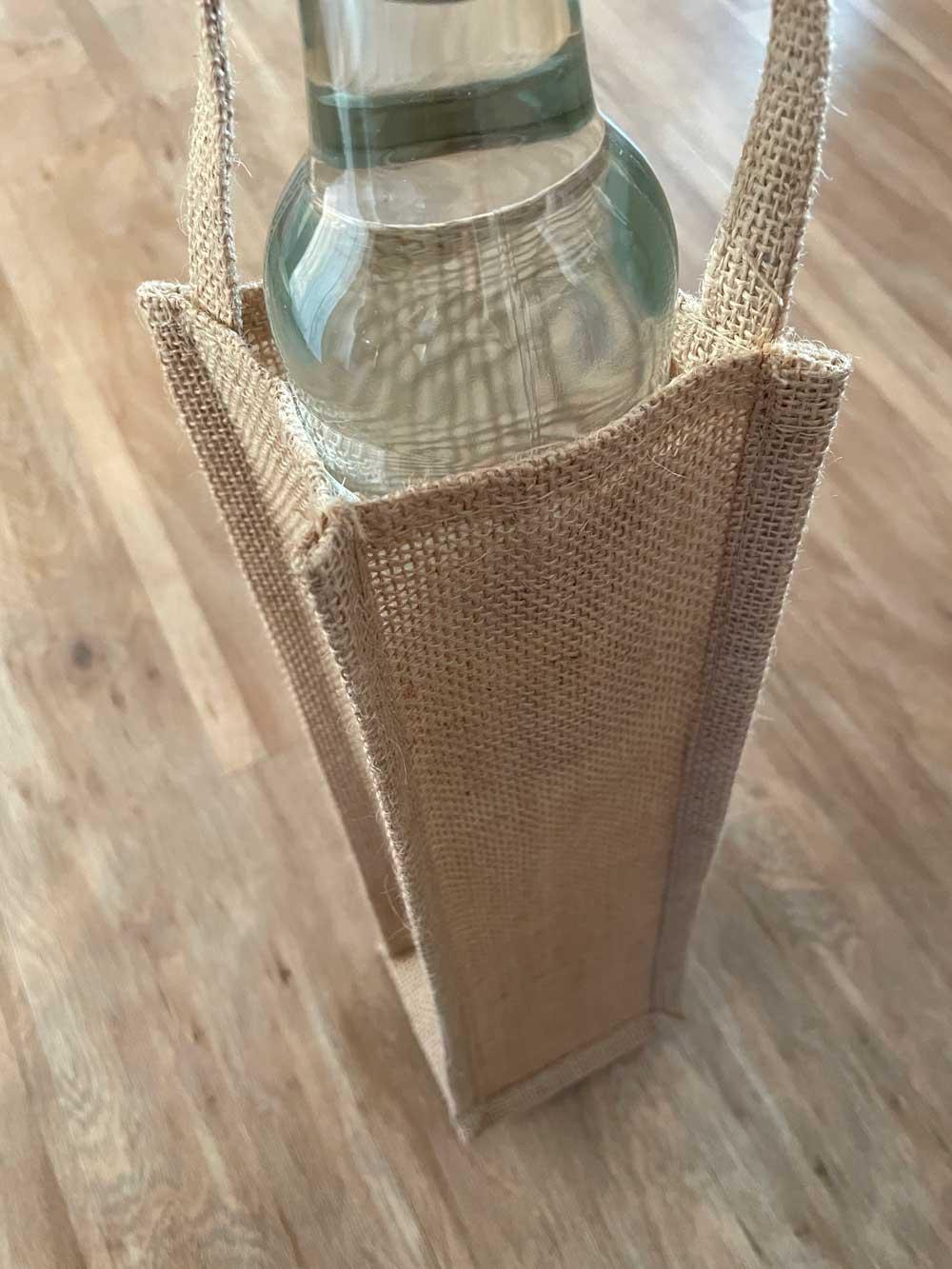 Flaschentüte aus Jute